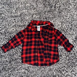 New Carter's Flannel Shirt & Jeans Size 6 Months